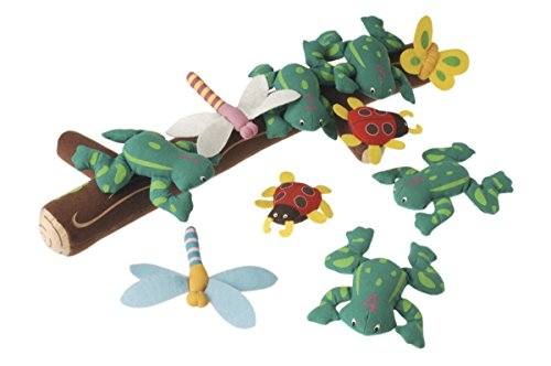 (Marvel Education Puppet and Props for Five Green Speckled Frogs, Set of 11 )