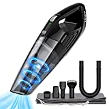HOLIFE Handheld Vacuum,4Kpa Hand Held Cordless Vacuum Cleaner 2200mAh Lithium Battery Portable for Home and Car Cleaning