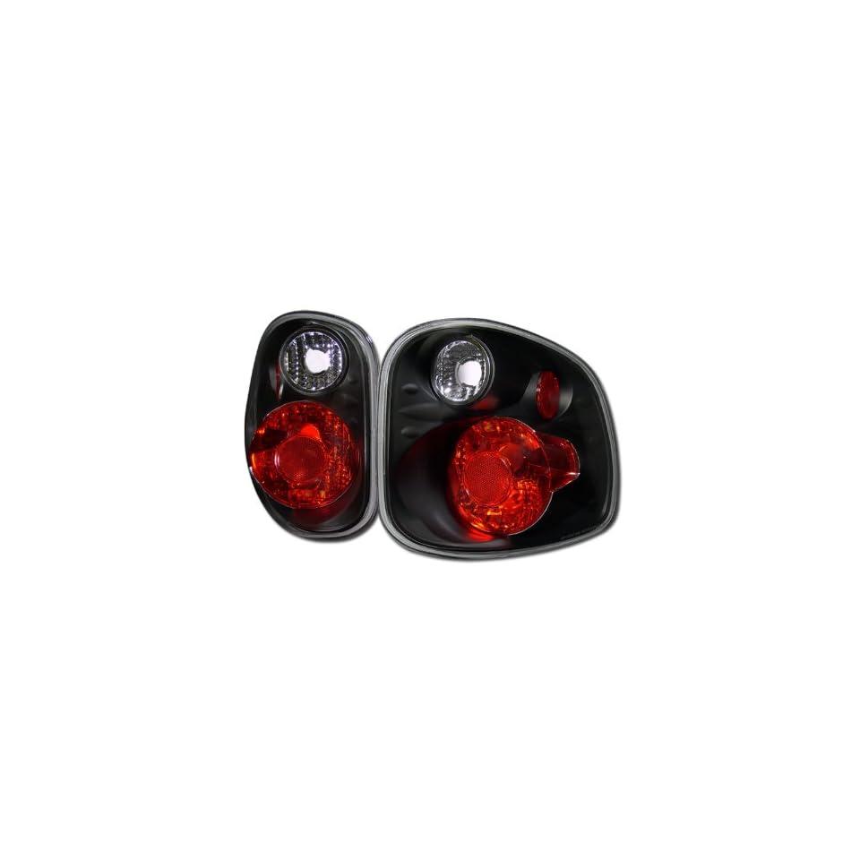 Euro Black Altezza Tail Lights Rear Brake Lamps V2 Ford F150 Flareside