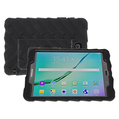 Gumdrop Cases Hideaway Stand for Samsung Galaxy Tab S2 8 Rugged Tablet Case Shock Absorbing Cover Black/Black SM-T713, SM-T710 by Gumdrop Cases