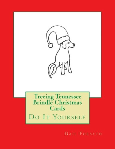 Treeing Tennessee Brindle Christmas Cards: Do It Yourself ()