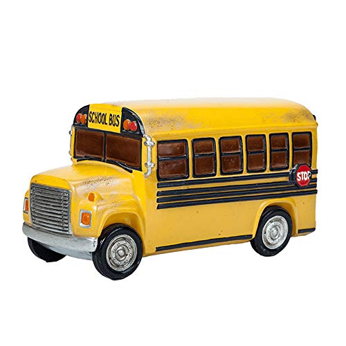 Colias Wing Home Decor Creative School Bus Stylish Design Coin Bank Money Saving Bank Toy Bank Cents Penny Piggy Bank-Yellow
