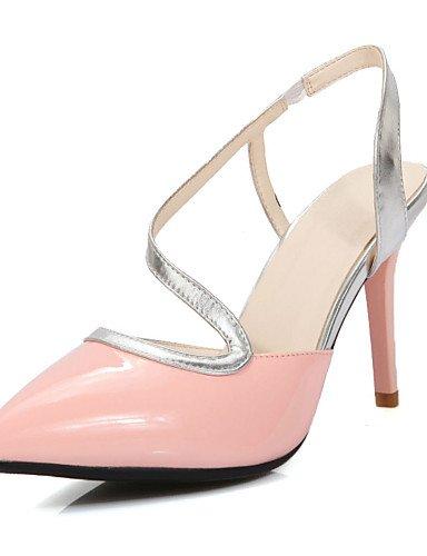 7e6904ae Pink Mujer Zapatos Fiesta pu Descubierto rosa Y Puntiagudos Lfnlyx  sandalias Talón vestido Stiletto Noche tacones ...