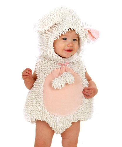 Laura the Lamb with Feet Costume - Baby 12-18 (Costume Lamb Pink)