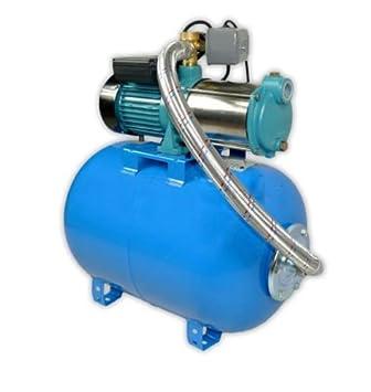 Wasserpumpe 1300W 90l//min 50l Druckbehälter Gartenpumpe Hauswasserwerk Set