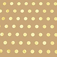 Golden Polka Dot Kraft Wrapping Paper - 16ft Roll