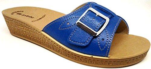 INBLU - Zapatillas de estar por casa para mujer azul Jeans 39