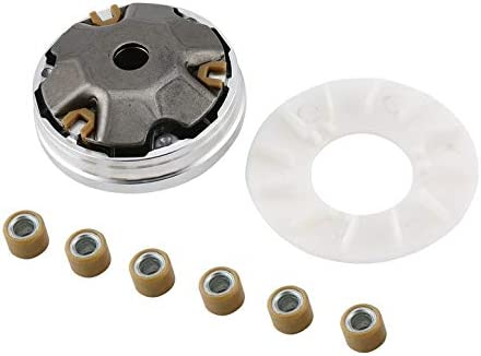 Lynn025Keats GY6 49cc 50cc Chinese Scooter Moped Variator Kit Front Clutch Pulley with Roller Weights 139QMB 139QMA TAOTAO SUNL
