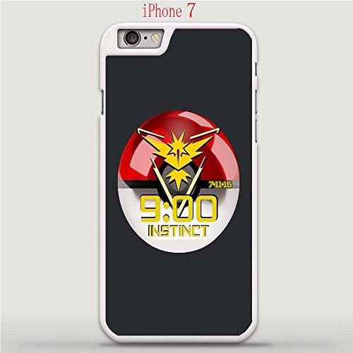 Apple iPhone 7 Case, Pok Mon Go Team Instinct Drop Protection Never Fade Anti Slip Scratchproof White Hard Plastic Case