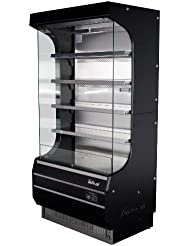 Turbo Air TOM40B 39 Full Size Display Merchandiser with Efficient Refrigeration System Anti-Rust Coating Attractive Glass Sides Back-Guard and Fluorescent Lighting: