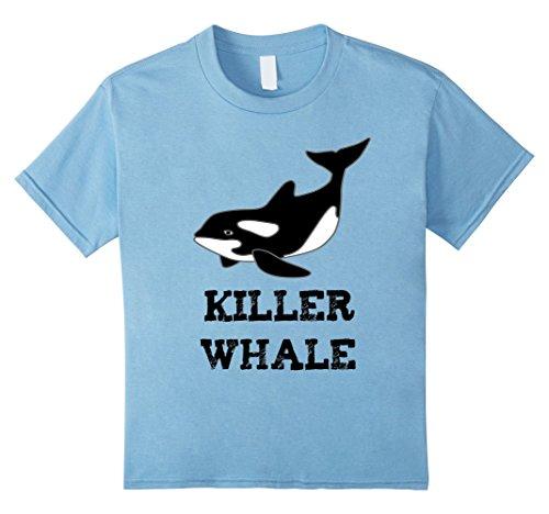 Classic Killer Instinct Costumes (Kids Killer Whale Cartoon Halloween Costume T-Shirt 6 Baby Blue)