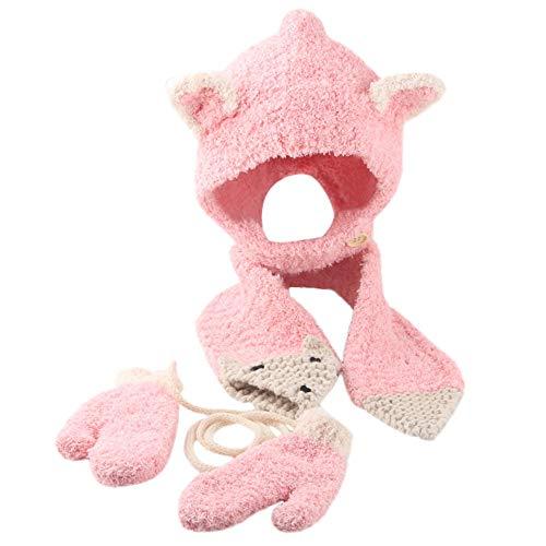 - Jarsh Baby Girl Boy Winter Hat Infant Toddler Kids Crochet Beanie Cap Scarf Gloves Set