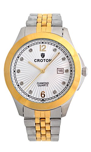 Ladies Diamond Watch Croton (Croton Men's 10 Diamond Dial Watch - CN307562TTSD)