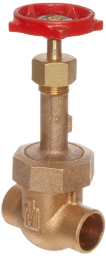 - Milwaukee Valve 1169 Series Bronze Gate Valve, Industrial Service, Class 150, Rising Stem, 1/2