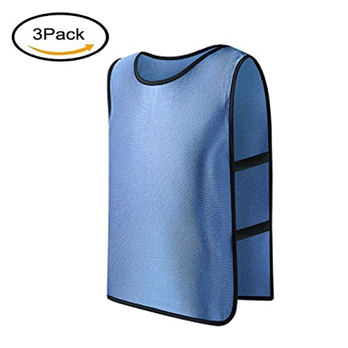 LERGOスポーツフットボールサッカーチームトレーニングPinnies/Scrimmage Vests/Practice Jersey forキッズ、子供、子供用 B07DLY48P3 3パック|ライトブルー ライトブルー 3パック
