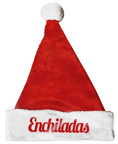 Stachimals Enchiladas Red Glitter Plush Santa Costume Christmas Hat