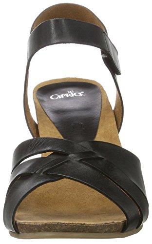 Caprice 28317, Sandalias de Tacón para Mujer Negro (Black Nappa)