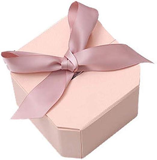 Amosfun Cinta de boda Caja de regalo con forma de octágono Cajas de regalo de papel abierto dual para favores de fiesta Decoración Bodas Cumpleaños: Amazon.es: Hogar