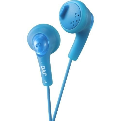 Jvc Gumy Phones - JVC Gumy HA-F160 Earphone - Stereo - Blue - Mini-phone - Wired - 16 Ohm - 15 Hz 20 kHz - Earbud - Binaural - Outer-ear - 3.28 ft Cable