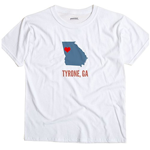 GreatCitees Tyrone Georgia GA, Fayette County Heart Unisex Souvenir T Shirt