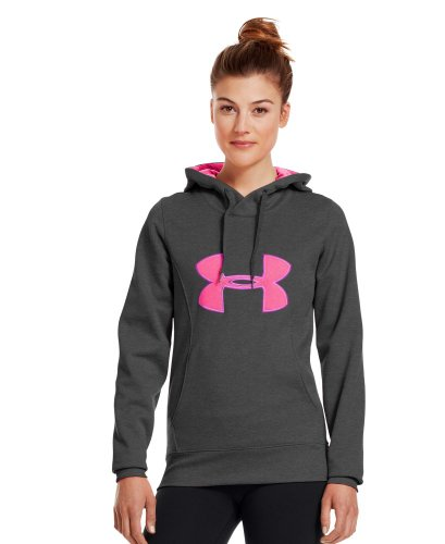 Under Armour Women's Armour® Fleece Storm Big Logo Hoodie Extra Large Carbon Heather
