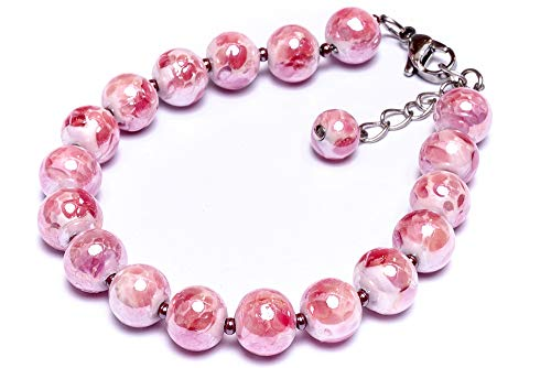 Millefiori Perlido Glamour Pink Bracelet, Made of Authentic Murano Glass, Italian Design]()