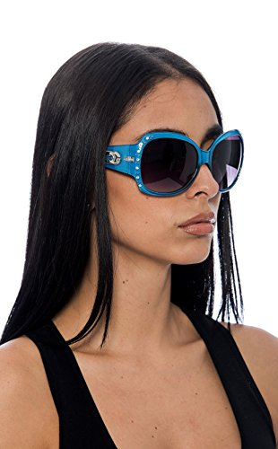 c6f63e7d8983 Galleon - DG Eyewear Sunglasses For Women Fashion - Assorted Styles & Colors  (Blue, ZB394)