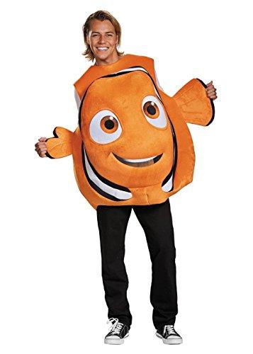 Disney Men's Finding Dory Nemo Costume, Orange, One Size ()