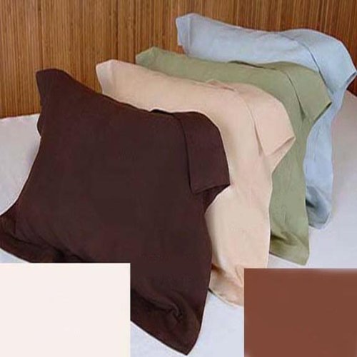 Marrikas DREAMSACK 100% Viscose From Bamboo STANDARD Pillow Sham Pair CAFE