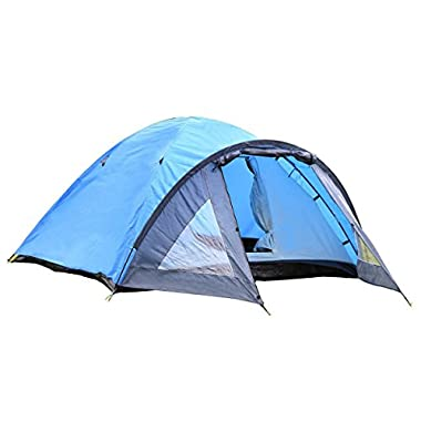 Semoo D-Shape Door, 3-4 Person, 4-Season Lightweight Family Camping Tent with Carry Bag, 1500mm