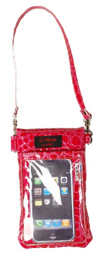 G-mate Luxury Croc Hot Pink Cell Phone Case/bag/pouch/carrier All in One Design