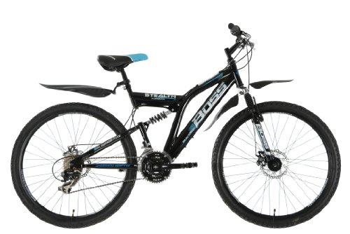 BOSS StealthMens' Mountain Bike Black, 26' inch steel frame, 21 speed front...