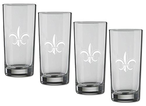 Fleur De Lis Highball - Kraftware Kasualware Collection Fleur de Lis Highball Glass, 16 Ounce - Set of 4