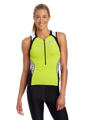 Elite In-R-Cool Tri Sleeveless Jersey Lime/White X-Large ()