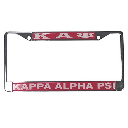 Kappa Alpha Psi Metal or Plastic License Plate Frame For Front Back of Car Nupe (Metal - Standard)