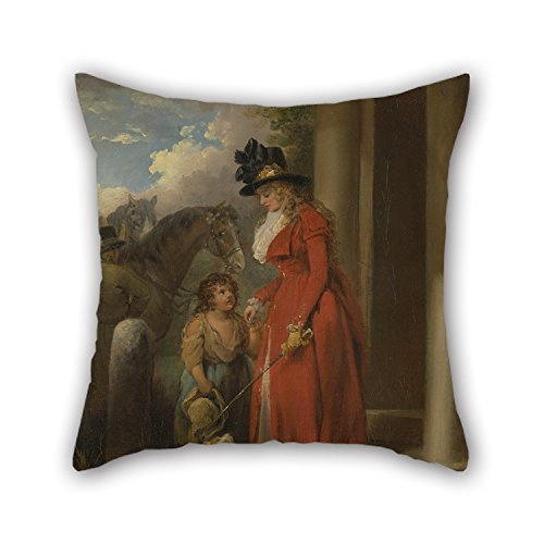 [Uloveme 18 X 18 Inches / 45 By 45 Cm Oil Painting George Morland - The Squire's Door Throw Pillow Covers ,twin Sides Ornament And Gift To Gril Friend,festival,car] (Squire Bunny Costume)