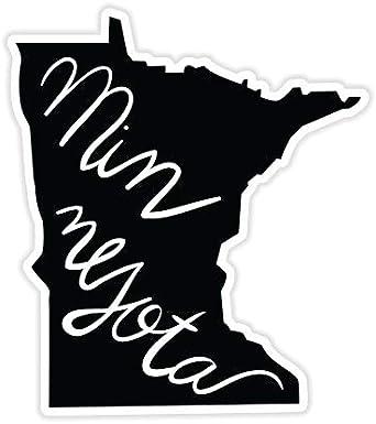 Vinyl Sticker Waterproof Decal GT Graphics Minnesota State Shape