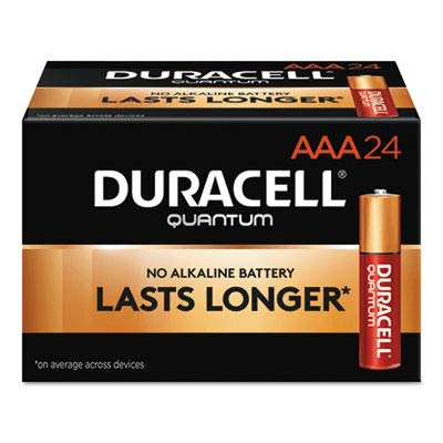Quantum Alkaline Batteries with Duralock Power Preserve Technology, AAA, 24/Box