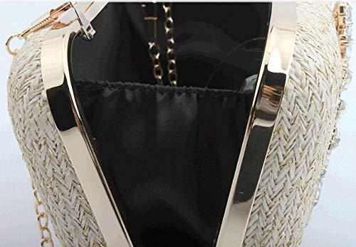 Flower Wedding Party Bridal Ladies' Gift Evening Bag Shoulder Diagonal Chain For Diamond Beige Bag Prom Handbag ETvSqw