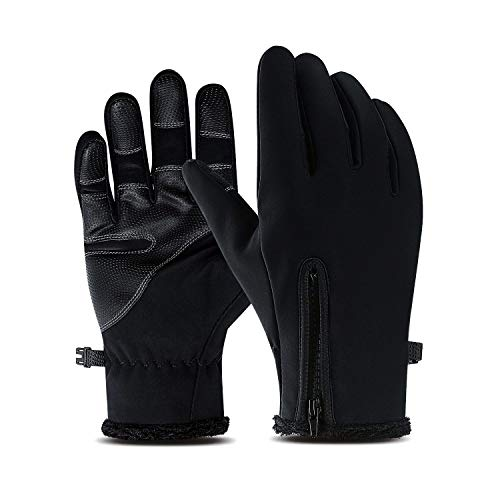 Suxman Cycling Gloves, Winter Waterproof Full Finger Touch Screen Anti-Slip Warm Gloves, Suitable for Indoor and Outdoor Sports, Driving, Skiing, Mountain Bike Riding, Gloves for Men and Women (What's The Best Road Bike)