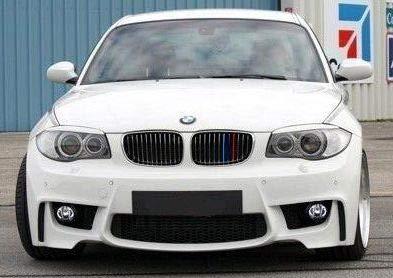 BizTech /® Inserts de calandre compatibles avec BMW S/érie 1 E87 2003-2011 12 Grilles M Power M Sport Tech Capot Capot Rein Garniture Boucle Clip en Rayures Couverture D/écor 3 Couleurs
