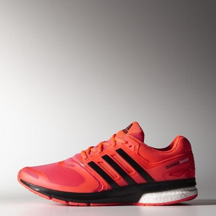 huge selection of 79c5d 590a4 Adidas Questar Boost Techfit Running Shoes - SS15 orange Size 9.5 UK  Amazon.co.uk Shoes  Bags
