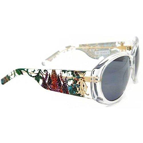 DeluxeComfort Christian Audigier Broken Heart Sunglasses - White Crystal