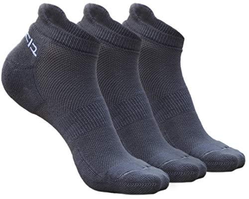 Heelium Bamboo Socks for Men Ankle Socks for Running Soft Breathable Mesh Odor Control Athletic Mens Socks Free Size