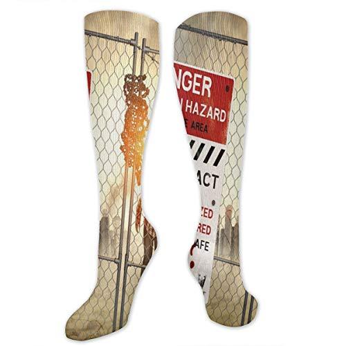 Compression Socks,Dead Man Walking In Dark Danger Scary Scene Fiction Halloween Infection Picture]()