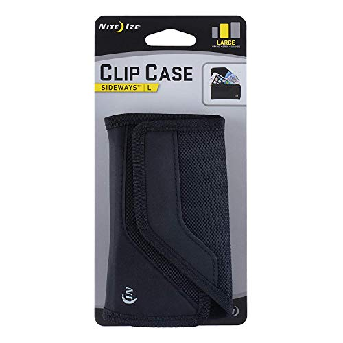 (Nite Ize Clip Case Sideways Phone Holster - Protective, Clippable Phone Holder For Your Belt Or Waistband - Large - Black)