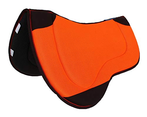 CHALLENGER Horse Saddle PAD Western Endurance Contoured Neoprene Orange 39196