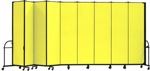 Screenflex Heavy Duty Portable Room Divider (HFSL749-DY) 7 Feet 4 Inches High by 16 Feet 9 Inches Long, Designer Yellow Fabric by Screenflex
