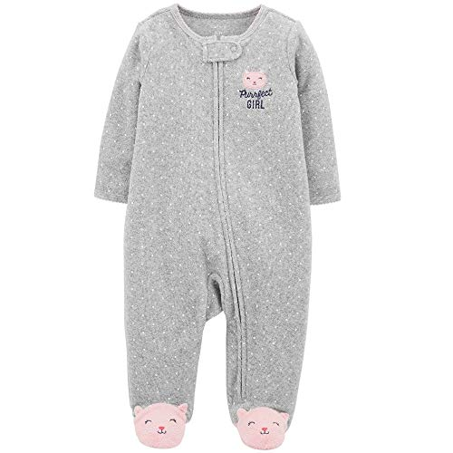 Carter's Baby Girls' Footie Sleep N Play (6 Months, Polka Dot Kitty)