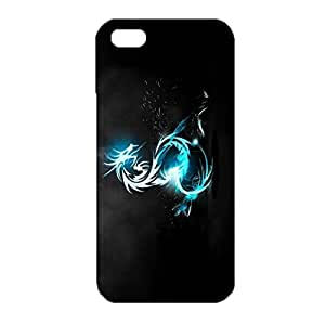 iPhone 5/5s/SE 3D Phone Case Multicolored Aurora Series Design Cover Back Snap on iPhone 5/5s/SE Lively And Flexible Mobile Shell